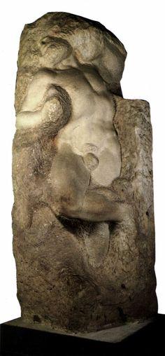 Slave (awakening), Michelangelo Buonarroti, circa 1519 - 1536, Accademia di Belle Arti di Firenze