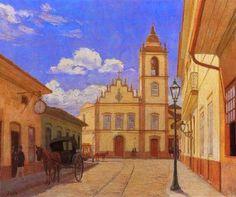 José Wasth Rodrigues - Antiga Rua do Rosário, hoje 15 de Novembro (1860), sem data (N.E.: na tela consta o ano 1918), óleo 43,2x35,5 cm, acervo do Museu Paulista   http://sergiozeiger.tumblr.com/post/99082439173/jose-wasth-rodrigues-sao-paulo-19-de-marco-de