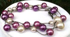Pearls in Purple Haze Bracelet by AmysBitsnBaubs on Etsy