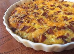 Feast your eyes upon a breakfast casserole that is just as good as eating a yummy breakfast sammich! And what's better than caramelized onions!? Well… Maybe bacon… Ok, of course b…