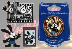 Oswald The Lucky Rabbit Pins Available at Disney Parks