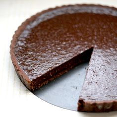 Aria chocolate tart from Masterchef Australia Cookbook Sweet Recipes, Cake Recipes, Dessert Recipes, Yummy Recipes, No Bake Desserts, Just Desserts, Sweet Desserts, Chocolate Recipes, Chocolate Pastry