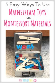 """The post """"How to use Mainstream toys as Montessori materials. Montessori materials for toddlers. Montessori materials for babies. Montessori toys for home. appeared first on Pink Unicorn Toys Montessori Preschool, Montessori Education, Montessori Room, Montessori Materials, Baby Education, Montessori Elementary, Toddler Learning Activities, Educational Activities, Diy Educational Toys For Toddlers"""