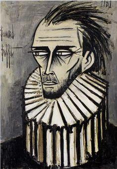 Bernard Buffet (1928–1999), 1981, Autoportrait, oil on canvas.