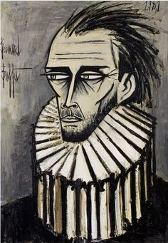 Bernard Buffet (1928–1999), 1981, Autoportrait, oil on canvas.