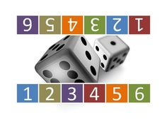 Dice Race - Kindergarten math game for number recognition and matching