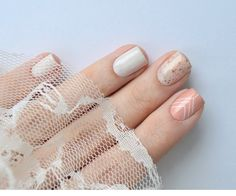 Anny I'm in heaven + Essie Marshmallow + Crows Toes Milquetoast + moYou