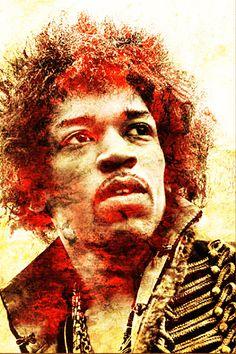 Jimi Hendrix Photograph - Jimi Hendrix Fine Art Print - Juan Jose Espinoza