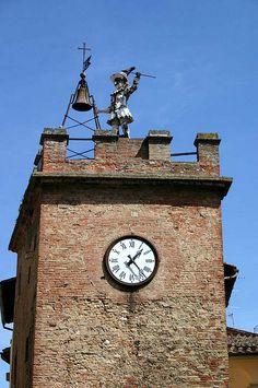 Clock Tower in Montepulciano, Tuscany, Italy