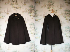 vintage cape, I want this and would wear it all the time.