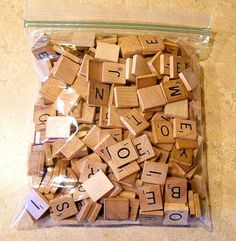 300 Scrabble Tile Wood Square Game Piece Craft Scrapbook Lot Jewelry Art Letter