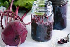 Beetroot chutney. beetroot, onions, green apples, balsamic vinegar (2cups), orange juice, sugar, cloves, rosemary