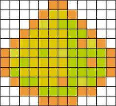 Minecraft Glowstone Dust bead pattern