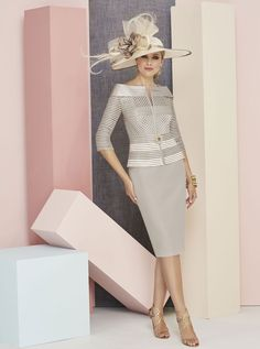 Ronald+Joyce+Taupe-+Ivory+2+Piece+Dress+and++Jacket+(991305)