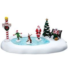 """LEMAX CHRISTMAS VILLAGE """"NORTH POLE ICE FOLLIES"""" 64045 ANIMATED TABLE ACCENT #Lemax"""