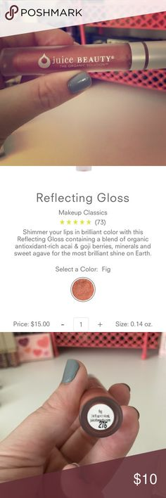 Juice beauty reflecting gloss in the shade Fig Brand new never used! Shimmer your lips in brilliant color with this Reflecting Gloss containing a blend of organic antioxidant-rich acai & goji berries, minerals and sweet agave for the most brilliant shine on Earth. juice beauty Makeup Lipstick