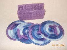 Coasters in Plastic canvas by SpyderCrafts on Etsy, $4.00