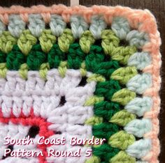 Zooty Owl's Crafty Blog: Seaside Winter Blanket:  South Coast Border (2)