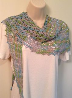 Pastel Mix Lace Crochet Shawl by SueAnnesKnitShoppe on Etsy