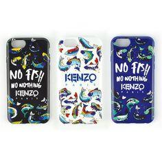 KENZO風 iPhoneファッションブランドNO FISH 海魚 iPhone6s/7ペアケース
