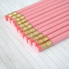 Hey, I found this really awesome Etsy listing at https://www.etsy.com/listing/106281650/bye-bye-pencils-12-imperfect-pastel-pink