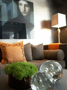 Decorate for Winter With Textiles : Decorating : HGTV  I like the glass paperweights-kind of icy!
