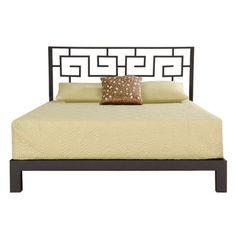 Greek Key Black Headboard and Aura Black Platform Bed | Overstock™ Shopping - Great Deals on Beds