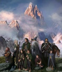 The Fellowship...and the Misty Mountains. LOTR
