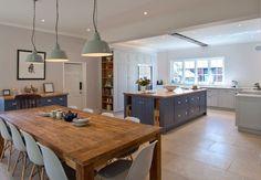 My perfect kitchen-Diner Open Plan Kitchen Dining Living, Open Plan Kitchen Diner, Country Kitchen, New Kitchen, Kitchen Family Rooms, Living Room Kitchen, Kitchen Interior, Kitchen Decor, Interior Livingroom