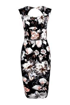 Boohoo-Womens-Ivy-Floral-Print-Sweetheart-Midi-Bodycon-Dress