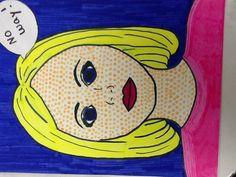 Pop art portraits grade 7
