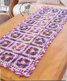 ARTESANATO FOFO: Caminho de mesa de crochê
