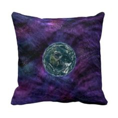 Galaxy Explorer. Space Exploration. Futuristic Throw Pillows