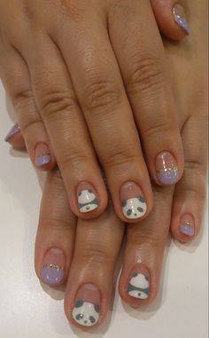 panda nails- I only like the pandas; not the other nails.