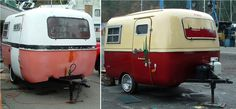 Boler before and after. Source by ceilityme Airstream Campers, Vintage Campers Trailers, Camper Trailers, Tiny Camper, Cool Campers, Happy Campers, Scamp Trailer, Little Trailer, Fiberglass Camper