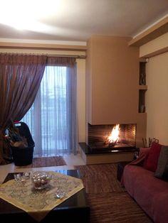 Παραδοσιακό Τζάκι με πυρότουβλο. Decor, Interior, Home Decor, House Interior, Home Interior Design, Interior Design, Fireplace