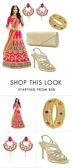 """""""Lengha/Saree Outfit"""" by minkaur on Polyvore featuring Nina and Mascara"""