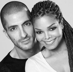 Janet Jackson and her husband, Qatari billionaire business tycoon, Wissam Al Mana. He manages with his 2 brothers the luxury empire, Al Mana Retail. He owns stakes in the Saks Fitfh Avenue stores in Dubai, Bahrain, & Kuwait, and owns an A/X Exchange store in Qatar. He is also one of the Middle East's richest investors, investing in RE, auto distrib, engineering & construction, retail, food svcs & media. His est. worth is $1Bn. He is 9 years Janet's junior. They have a son named Eissa Al…