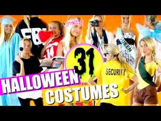 It's DIY Halloween 2019 time! In this video I'll show you 31 last-minute DIY Halloween Costumes! I have 31 cute Halloween costume ideas that you can create. Halloween Gif, Halloween Costumes For Teens, Halloween 2019, Girl Costumes, Costume Ideas, Embroidery For Beginners, Sewing For Beginners, Diy Clothes Tops, Diy Store