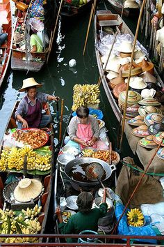 marché flottant Bangkok  http://BangkokFavorites.com