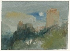 Joseph Mallord William Turner, 'Tancarville: Moonrise' c.1832