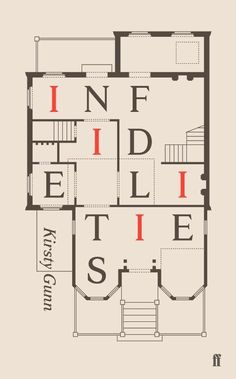 Infidelities by Kirsty Gunn; design by Darren Wall (Faber & Faber / November Creative Book Covers, Best Book Covers, Beautiful Book Covers, Book Cover Art, Book Cover Design, Book Art, Typographie Design, Lettering, Typography