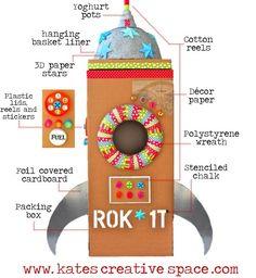 DIY Cardboard Rocket from katescreativespace