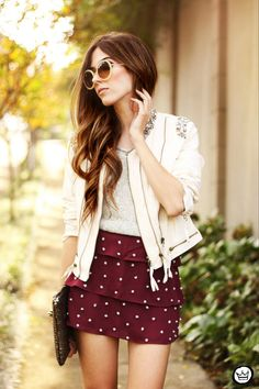 It's Delicate ( Studded Skirts & Leather Jackets )