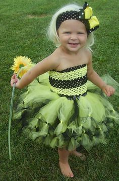 Busy Bumble Bee Costume Bumble Bee TUTU SET 12 months to 2T. $50.00, via Etsy.