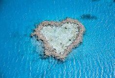 The Heart Reef. Located in the Great Barrier Reef.