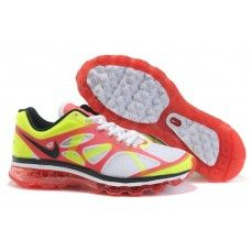 Hommes Nike Air Max 2012 Blanc/Vert/Rouge