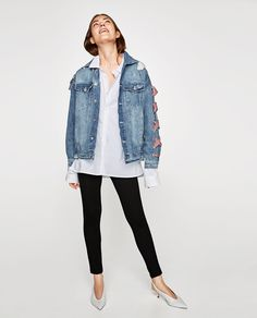 DENIM JACKET WITH BOWS-JACKETS-WOMAN | ZARA United States