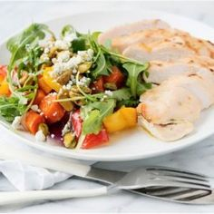 The chicken baked in honey and mustard sauce with vegetables. Recipes with photos.