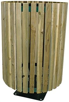 Wood Trash Can, (Ground Mount): When you want your trash cans to blend into your park area, Wood-Sided Trash Cans are the perfect choice. They are made with treated lumber to withstand the elements while providing ample trash storage space. - Iowa Prison Industries